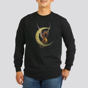 Moon Dragon Long Sleeve Dark T-Shirt