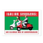 Italian Scooters Postcards (Pckg of 8)