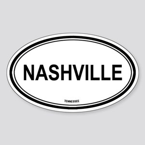 Nashville (Tennessee) Oval Sticker