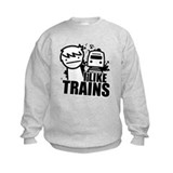 I like trains Crew Neck