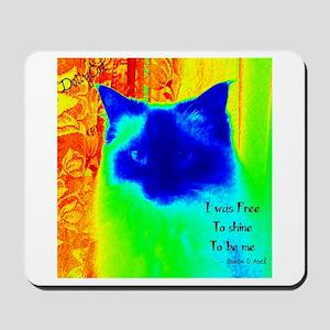 DollyCat Neon Verse - Ragdoll Cat - Mousepad