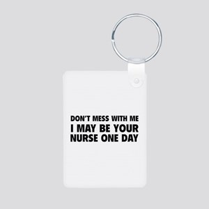 Don't Mess With Me Aluminum Photo Keychain