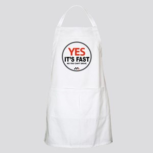 Yes It's Fast BBQ Apron