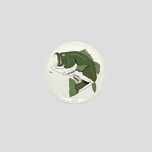 Largemouth Bass Mini Button