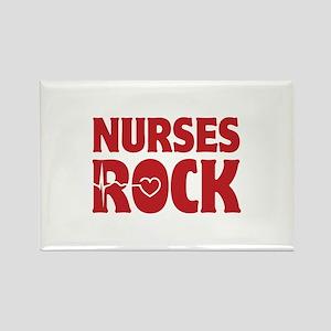 Nurses Rock Rectangle Magnet
