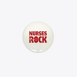 Nurses Rock Mini Button
