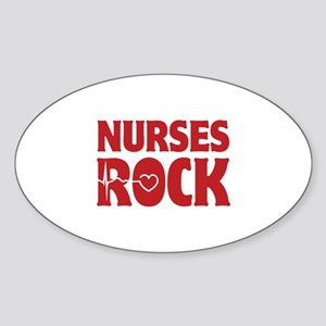 Nurses Rock Sticker (Oval)