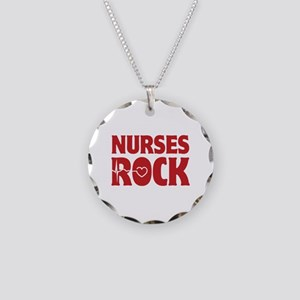 Nurses Rock Necklace Circle Charm