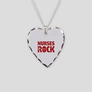Nurses Rock Necklace Heart Charm