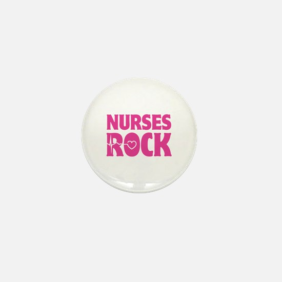 Nurses Rock Mini Button