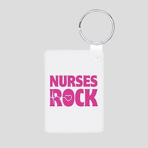 Nurses Rock Aluminum Photo Keychain