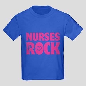 Nurses Rock Kids Dark T-Shirt