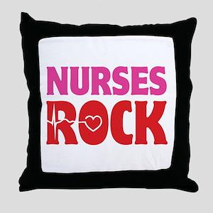 Nurses Rock Throw Pillow