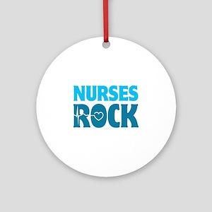 Nurses Rock Ornament (Round)