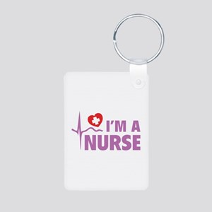 I'm A Nurse Aluminum Photo Keychain