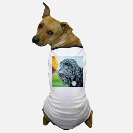 Black Labradoodle 5 Dog T-Shirt