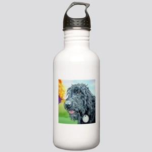 Black Labradoodle 5 Stainless Water Bottle 1.0L
