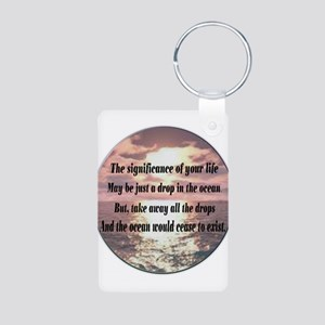 A drop in the ocean Aluminum Photo Keychain