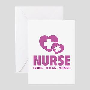 Nurse - Caring Healing Nursing Greeting Card