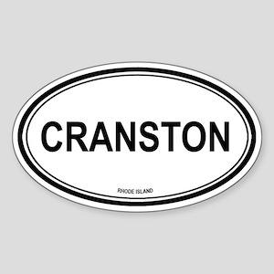 Cranston (Rhode Island) Oval Sticker