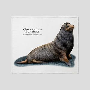 Galapagos Fur Seal Throw Blanket