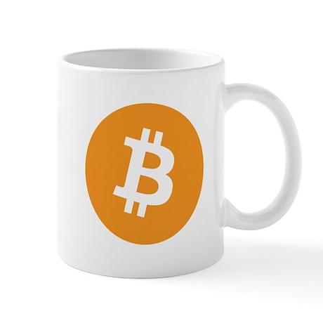 Mug with the bitcoin logo