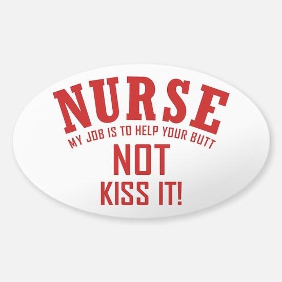 Nurse Sticker (Oval)