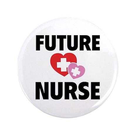 """Future Nurse 3.5"""" Button"""