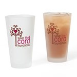 Save the Cord Foundation Logo Drinking Glass