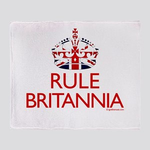 Rule Britannia Throw Blanket