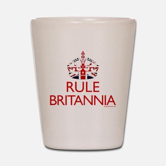 Rule Britannia Shot Glass