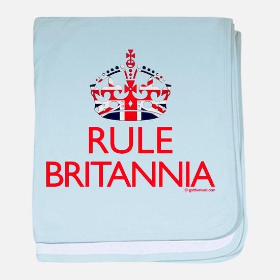 Rule Britannia baby blanket
