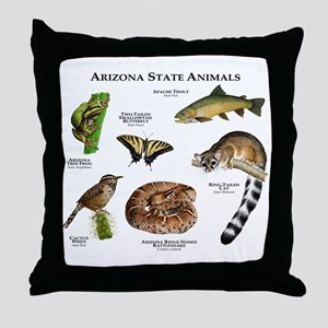 Arizona State Animals Throw Pillow