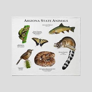 Arizona State Animals Throw Blanket