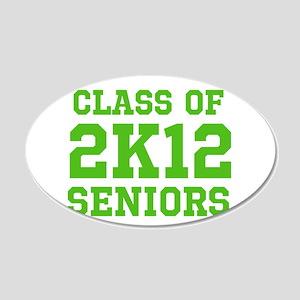 2K12 (Green Text) 22x14 Oval Wall Peel