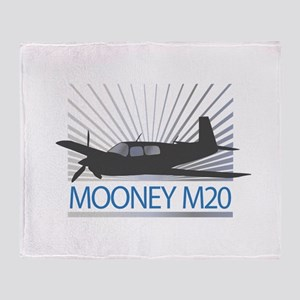 Aircraft Mooney M20 Throw Blanket