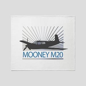 Aircraft Mooney M20 Throw Blanket