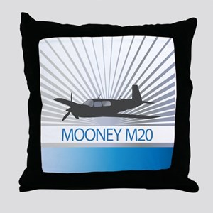 Aircraft Mooney M20 Throw Pillow