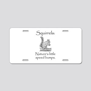 Squirrel Speed Bump Aluminum License Plate