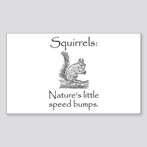 Squirrel Speed Bump Sticker (Rectangle 10 pk)