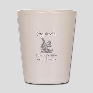 Squirrel Speed Bump Shot Glass