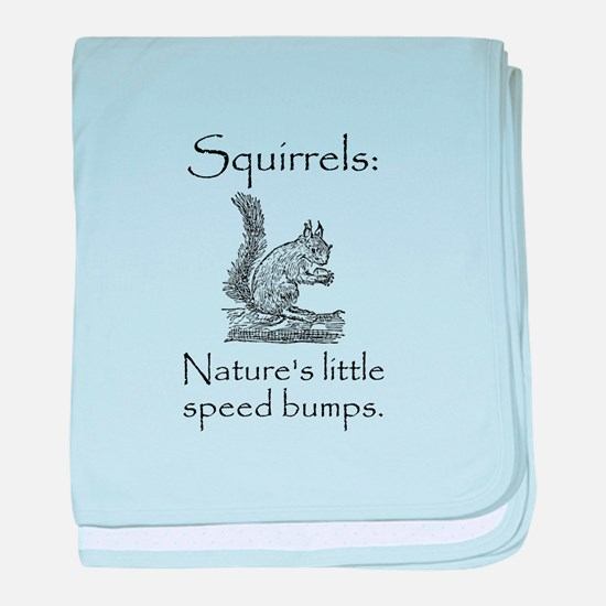 Squirrel Speed Bump baby blanket