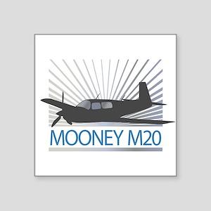 "Aircraft Mooney M20 Square Sticker 3"" x 3"""
