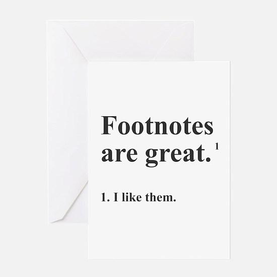 Footnotes Greeting Card