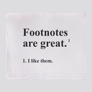 Footnotes Throw Blanket