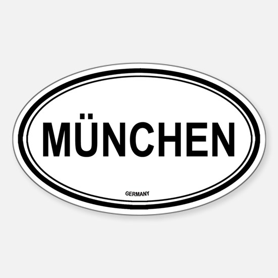 München, Germany euro Oval Bumper Stickers
