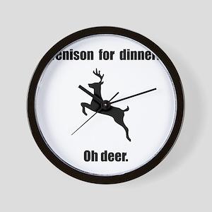 Venison Deer Pun Wall Clock