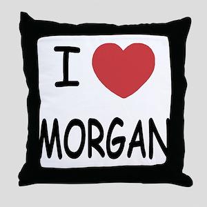 I heart Morgan Throw Pillow