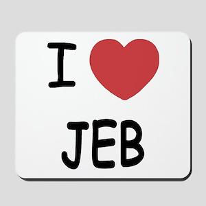 I heart Jeb Mousepad