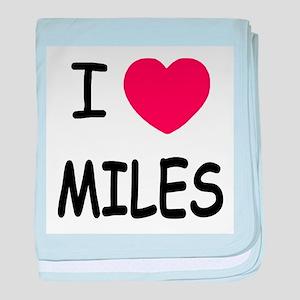I heart miles baby blanket
